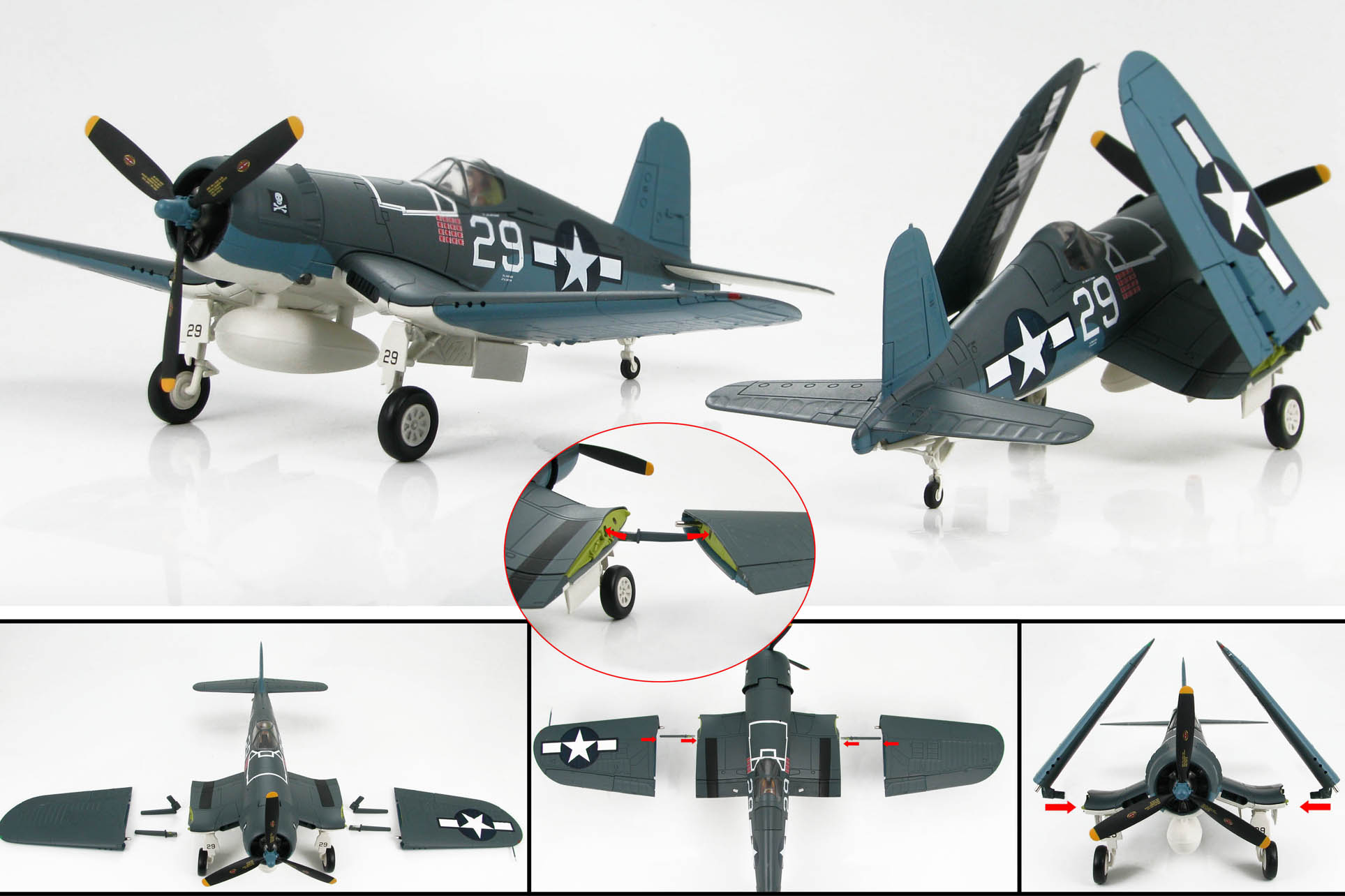 F4U Wing position directions